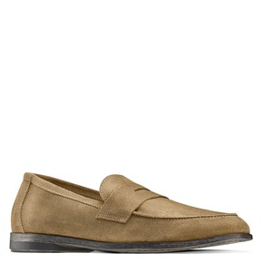 Mocassini in suede bata, beige, 853-8129 - 13