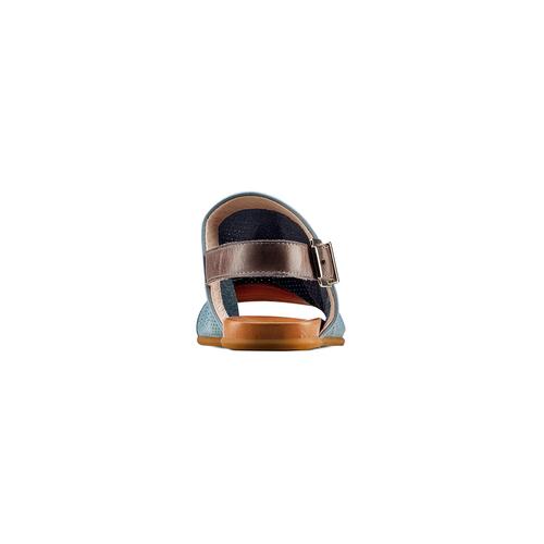 Sandali in pelle bata, blu, 564-9282 - 15