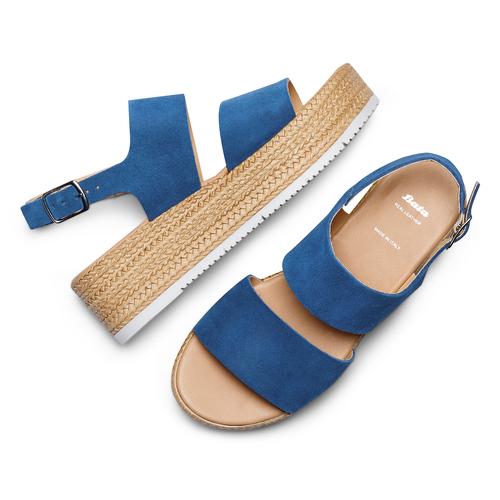 Sandali platform bata, blu, 663-9101 - 26