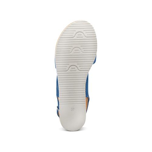 Sandali platform bata, blu, 663-9101 - 19