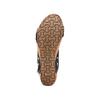 Sandali traforati bata, nero, 669-6356 - 19