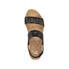 Sandali traforati bata, nero, 669-6356 - 17