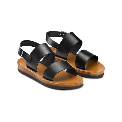 Sandali in pelle bata, nero, 664-6150 - 16