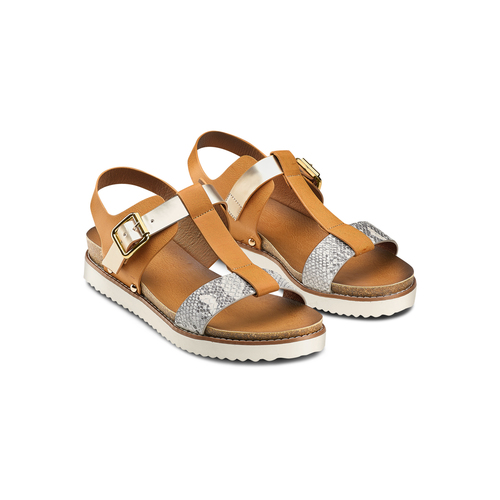 Sandali da donna bata, marrone, 561-8295 - 16