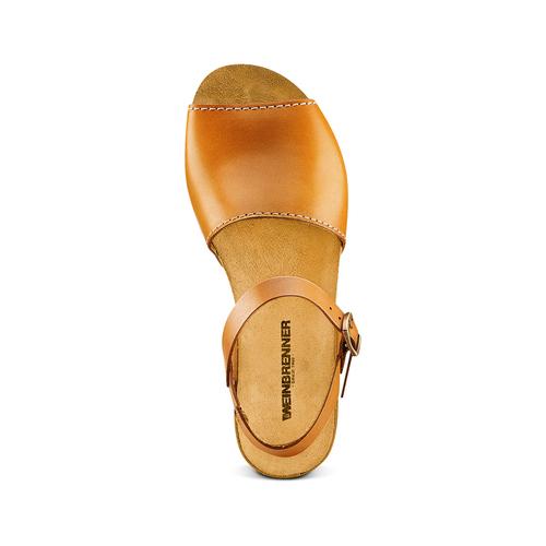 Sandali in vera pelle weinbrenner, marrone, 564-3161 - 17