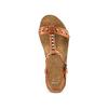 Sandali con zeppa bata, marrone, 661-3360 - 17