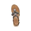 Sandali con zeppa bata, nero, 661-6357 - 17