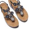 Sandali con zeppa bata, nero, 661-6357 - 26