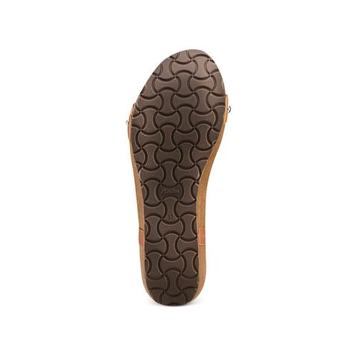 Sandali con zeppa bata, marrone, 661-3360 - 19