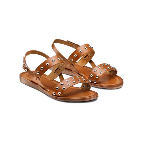 Sandali Flat bata, marrone, 564-3210 - 16
