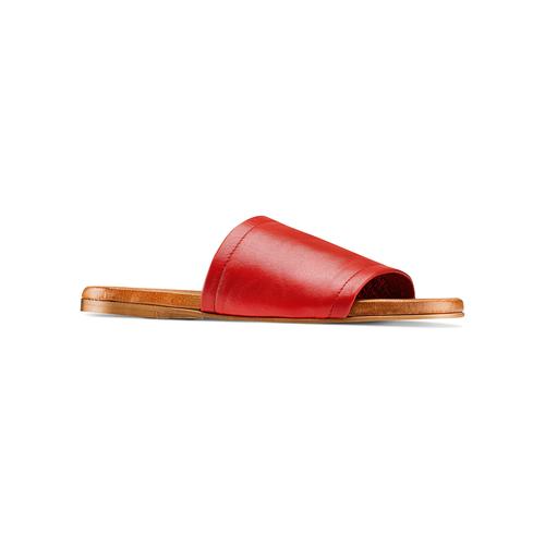 Ciabatte Flat in pelle bata, rosso, 564-5146 - 13