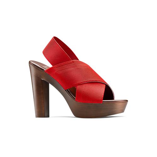 Sandali con tomaia elastica bata, rosso, 779-5110 - 13