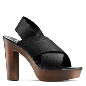 Sandali con tomaia elastica bata, nero, 779-6110 - 13