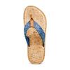 Infradito con motivo intrecciato bata, blu, 869-9112 - 17