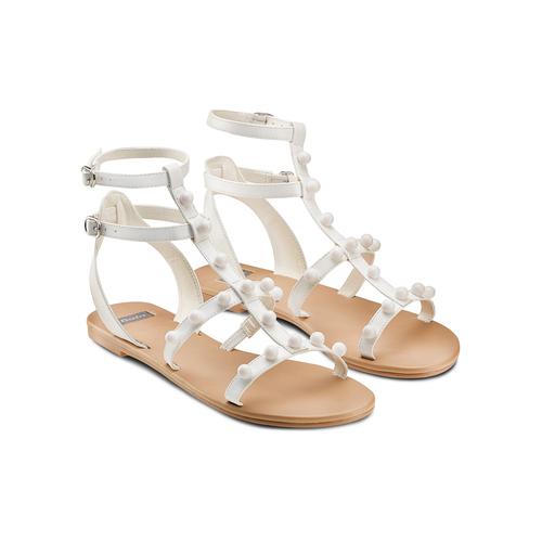 Sandali con doppio cinturino bata, bianco, 561-1542 - 16