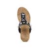 Infradito con zeppa bata, nero, 661-6365 - 17
