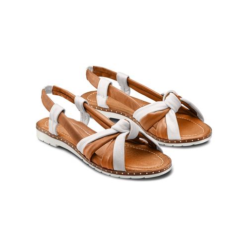 Sandali in vera pelle bata, marrone, 564-4525 - 16