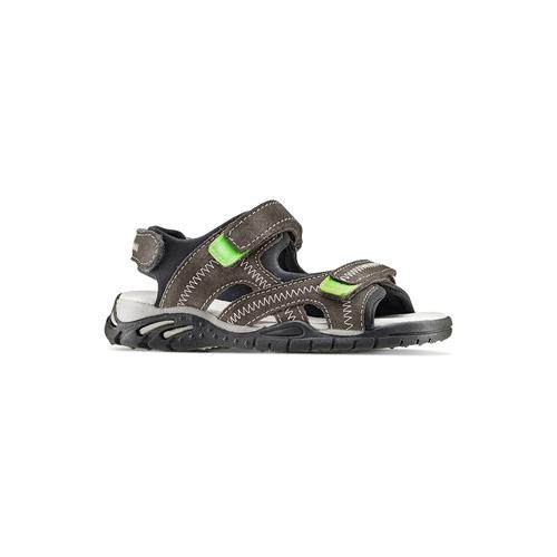 Sandali in pelle da bambino mini-b, grigio, 363-2244 - 13