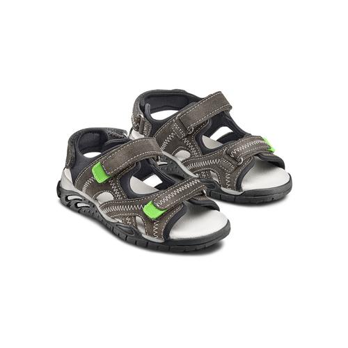 Sandali in pelle da bambino mini-b, grigio, 363-2244 - 16