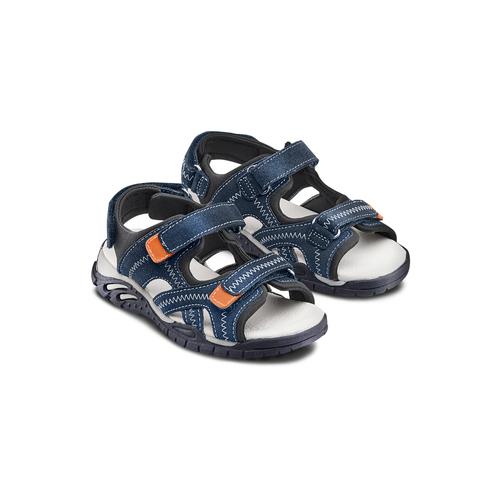 Sandali in pelle da bambino mini-b, blu, 363-9244 - 16