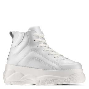 Sneakers alte con platform bata, bianco, 541-1231 - 13