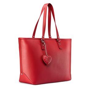 Borsa a spalla con charm bata, rosso, 961-5283 - 13