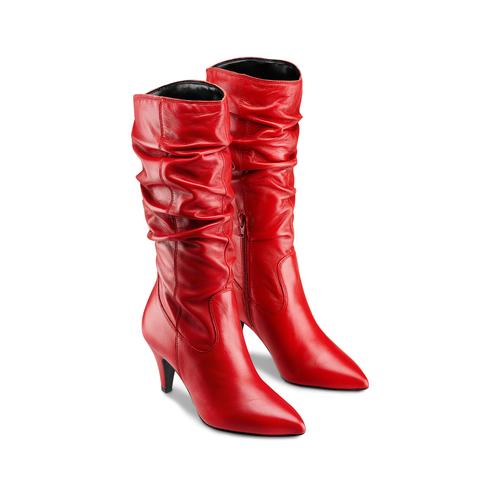 Stivali Bata in vera pelle bata, rosso, 794-5186 - 16