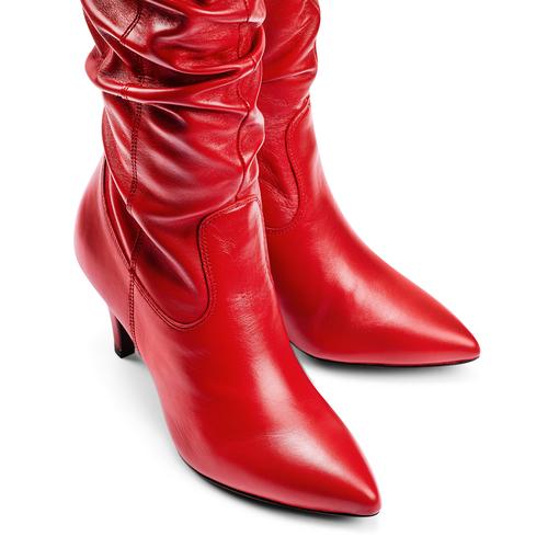 Stivali Bata in vera pelle bata, rosso, 794-5186 - 17