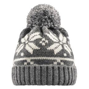 Cappello Bata con pom pon bata, grigio, 909-2466 - 13