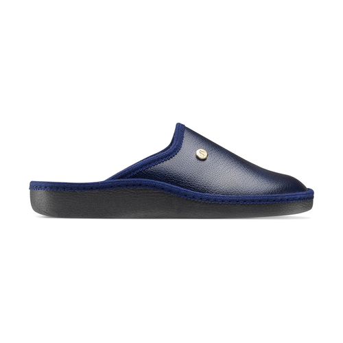 Pantofole da uomo con punta chiusa bata, blu, 871-9304 - 26